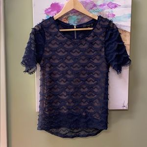 Scalloped lacy Sanctuary top